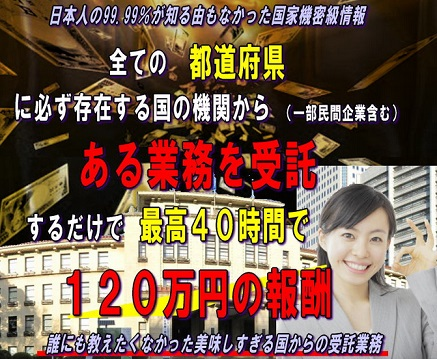 国の機関からの業務を受託するだけで120万円 辻村好恵